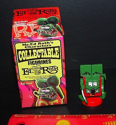 Official Ed Roth Rat Fink Cube Rat Fink New In Opened Box Rare Item