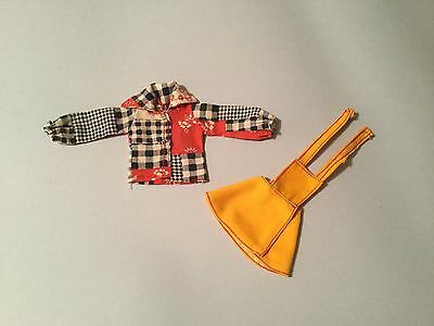 Vintage sindy Bib skirt 1973-1975 with less common different version blouse