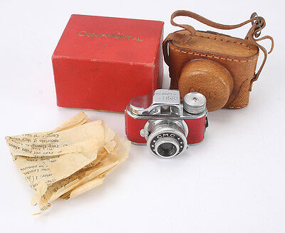 CMC HIT CAMERA, RED COVERING + BOX MARKED CONTINENTAL/cks/189675