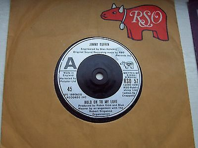 Jimmy Ruffin, Hold On To My Love. Original 1980 Rso Single