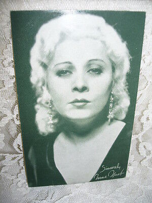 Vintage Authentic Hollywood Autographed Print Mae West