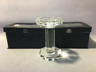 Lot 2 NIB Oleg Cassini Ashley 112141 Crystal Pillar Candlesticks Wedding Gift