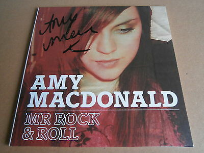 """Amy Macdonald Mr Rock & Roll Hand Signed Autographed What Is Love Pop Rock 7"""""""