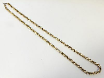 18k GOLD PLATED Rope Chain Chunky Necklace - A23