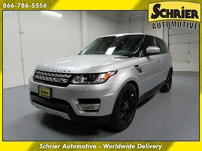 2015 Land Rover Range Rover Sport Supercharged Sport Utility 4-Door 15 Rover Supercharged Silver Heated Leather Panoramic Roof Bluetooth