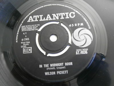 """Wilson Picket In The Midnight Hour I'm Not Tired Atlantic At.4036 Soul R&b 7"""""""