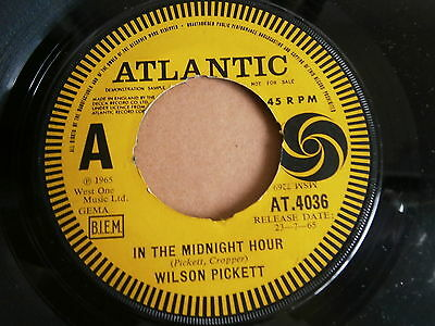 Wilson Pickett In The Midnight Hour Atlantic Demo At4036 I'm Not Tired Soul R&b