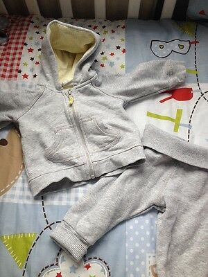Baby Boys Grey Jogging Suit 2-4 Months From H&M