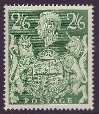 GREAT BRITAIN, 2s6d YELLOW-GREEN, SG476b, MOUNTED MINT, 1942
