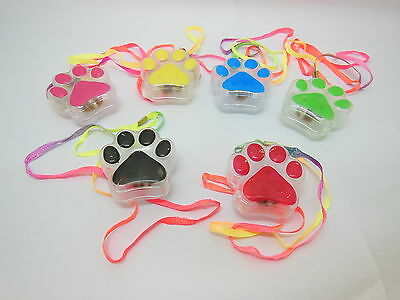 48Pcs Funny Flashing Cute Bear's Paw Necklaces for Disco Party