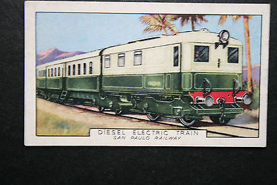 San Paulo Railway  Diesel Electric Unit    Vintage Card # VGC