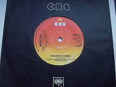 The Manhattans, Kiss And Say Goodbye / Wonderful World Of Love. 1976 Single