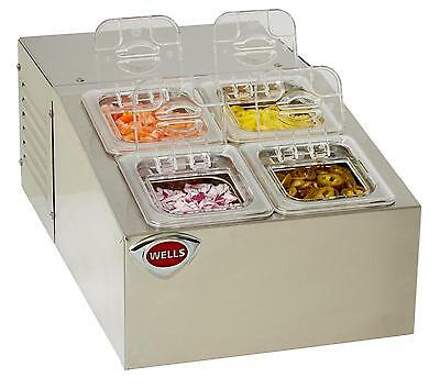 Wells Self-Contained Refrigerated Counter Top Server - Rcts-4