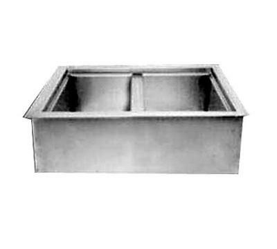 """Wells ICP-200 Built-In Two - 12"""" x 20"""" Bay Non-Refrigerated Cold Well"""