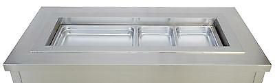 Wells RCP-300SL Built-In Slim Line 3-Bay Refrigerated Cold Food Well