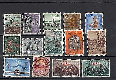 Ceylon.14 -- 1950's Used Stamps On Stockcard