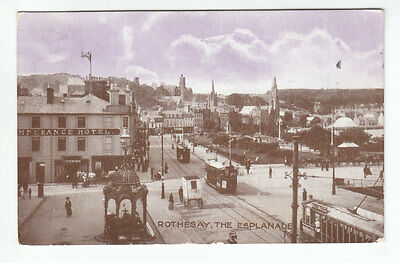 Rothesay Temperance Hotel Trams Esplanade Isle Of Bute Aug 1917 Wood Stevenston