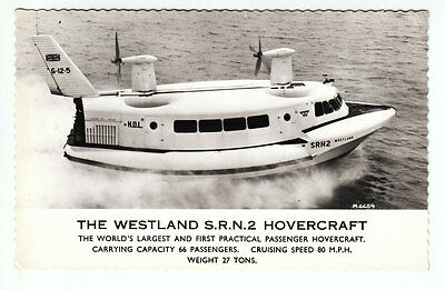 Westland SRN2 G-12-5 HDL Hovercraft 1962 Real Photograph Valentines M4459 Old PC