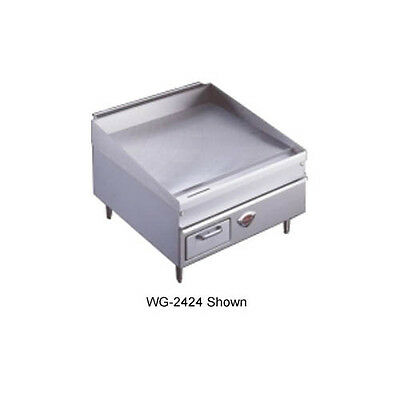 "Wells 2424G 24"" Natural Gas Thermostatic Countertop Griddle"