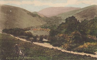 View On Old Manaton Road On 1922 Used Card By Frith