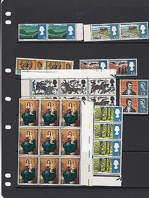 29 -- Various Pre-Decimal Qe2  Mint Stamps On Large Stockcard