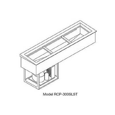 Wells RCP-300SLST (3) Full Size Pan Slim Line Drop-in Cold Food Well Unit