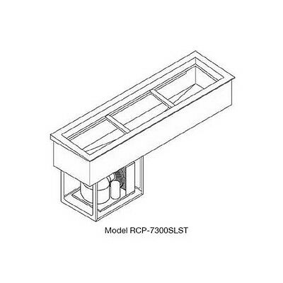 Wells RCP-7400SLST (4) Full Size Pan Drop-in Slim Slope Top Cold Food Well Unit