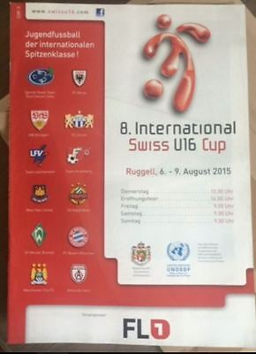 Swiss Cup Official  Pre Season Youth Friendly Programme West Ham Manchester City