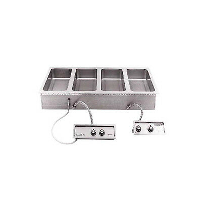 "Wells MOD-400TDM-QS (4) 12""x20"" Quickship Built-in Top Mount Food Warmer"