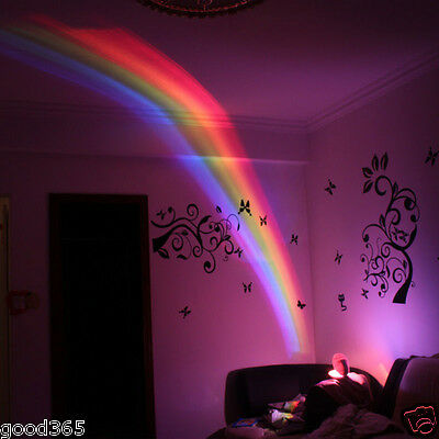 Baby Cot Nursery Mobile Toy Rainbow Projector Night Light Starlight Show Perfect