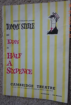 Cambridge Theatre Programme - Half A Sixpence - Tommy Steele - March 1963