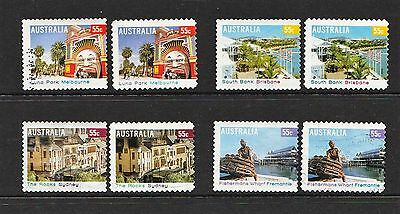 2008 55c DEFINITIVES 2 TYPES OF P&S USED