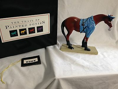 Trail Of Painted Ponies-PATROL HORSE 1E 6110 Rare 1st Edition In Black Box