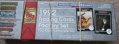 Tsr Ad&d 2E 1992 Trading Cards Factory Set Boxed 1080 Advanced  Dungeon Dragon