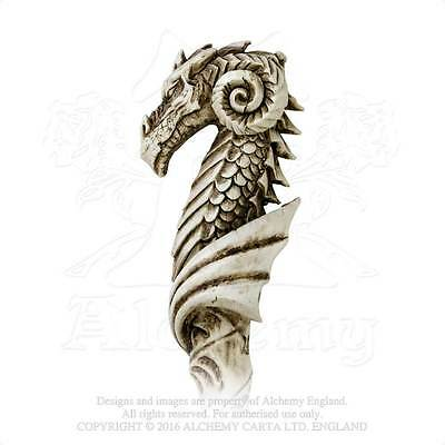 Dragon Wand with Pentacle - Alchemy Gothic Dragon Magick Wand - Pentagram seal