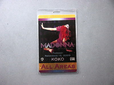 Madonna backstage pass Otto Laminated Koko London11/15/05 All Areas FOIL PAPER !