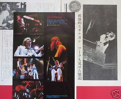EMERSON LAKE & PALMER At Wembley 1974 CLIPPING JAPAN MAGAZINE OS 8A 5PAGE