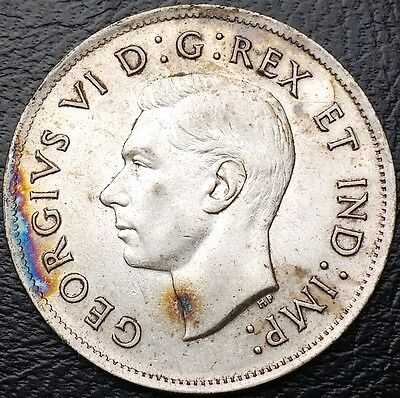 1939 Canada Silver 50 Cents Half Dollar ***Great Condition*** Nice Detail