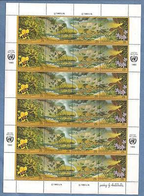 1993 United Nations Pane Of 24 Mnh Stamps - New York Environment Climate - Wb95