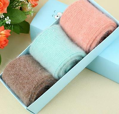 5 Pairs New 100% Pure Cashmere Wool Thick Warmer Women's Socks Comfortable Warm