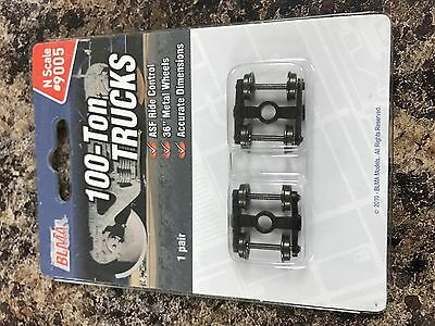 BLMA 9005 N 100 Ton Trucks with metal wheels- 1 pair per package
