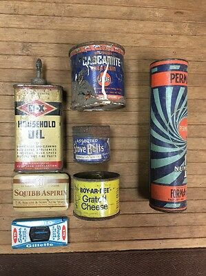 Vintage Lot Of Tin Advertising Pieces