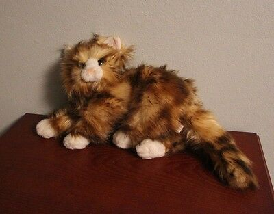 """Ty JUMBLES Calico Cat 17"""" Long Plush Toy w/ Realistic Fur 2014 - Free S&H"""