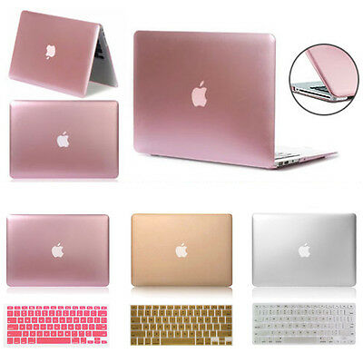 Metallic Rubberized Hard Case Keyboard Skin for Macbook Pro 13/15 Air 13/11 Inch