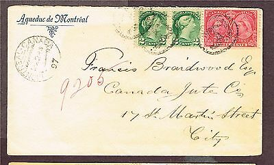 Canada Registered Square Circle + Nore Dame Cancel Queens #53 Re-Entry   (Ber23