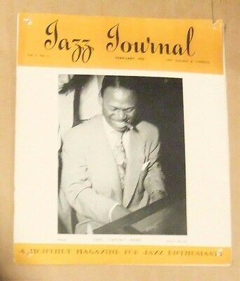 Vintage  Jazz Journal 1950 February  Vol.3 No.2 Earl Hines