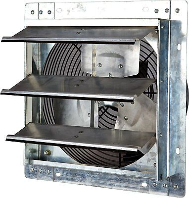 Iliving ILG8SF12V 12 Inch Variable Speed Shutter Exhaust Fan Wall-Mounted NEW