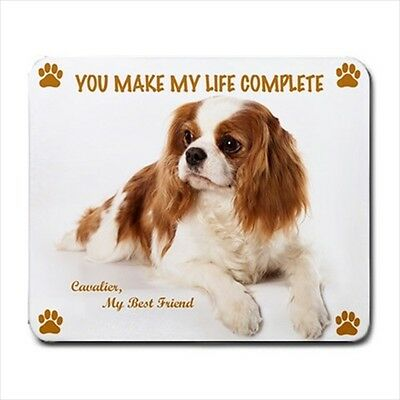 New Cute CAVALIER KING CHARLES SPANIEL Dog Puppy Rubber Computer MOUSE PAD Mat