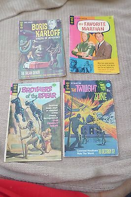 1 Rare joblot 4 Vintage Gold Key 60s US Comics FAVOURITE MARTIAN,BROTHERS SPEAR
