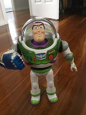 Toy Story 30cm Buzz Lightyear  Talking Action Doll - Lights Up! VGC!